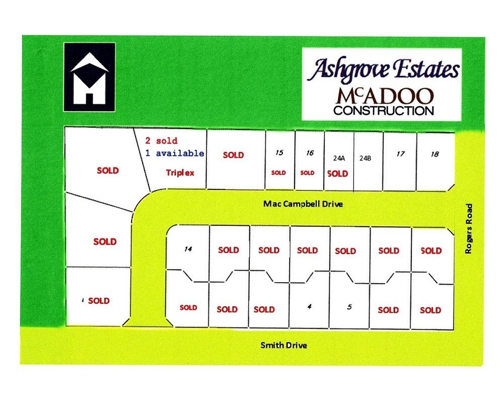 Ashgrove Estate Map June 2018